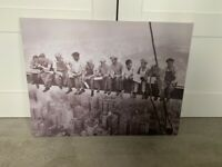 Canvas Print (Men at Work/Lunch – New York)