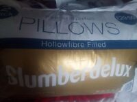 Two washable pillows for £5.00 duvas single£10.00 double£15.00 king size £20.00