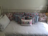 IKEA Metal White single Daybed.. To include sprung wooden bed slats and a good condition mattress .
