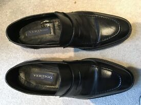 Almost new (worn twice) Vertigo Black Loafers for sale (size UK 7, RRP 110 pounds)