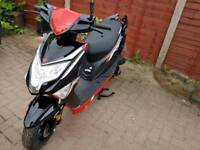 Longjia 50cc 2017 moped scooter, 2keys 95miles, london, logbook lexmoto