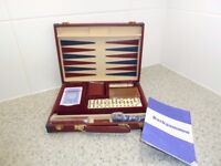 NEW AND UNUSED CLASSIC GAMES COMPENDIUM IN NEAT FAUX LEATHER CARRY CASE