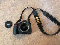 Nikon D3000 & 18-55mm lens for sale