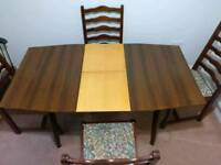 Mid Century Extending Dining Table and 4 Chairs