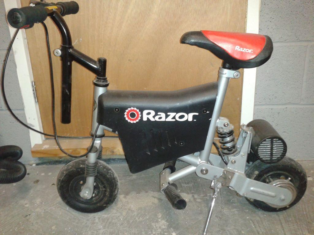 Razor Punk Miniature Bike Good Condition But Needs A New Charger