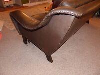 1960's Buffalo hide 3 seater retro sofa