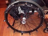 Custom manual wheelchair with special hands grips