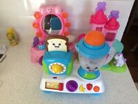Baby girl bundle Toy beauty mirror Kitchen Ball Popper Lot Fisher Price Bright Starts