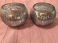 Pair of large tea light holders