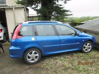 PEUGEOT 206 SW. 1.6HDI . 2006. Good condition, very economical. 76000 miles.