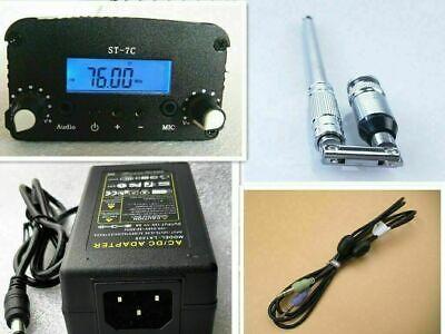 1w7w 76-108mhz Stereo Pll Fm Transmitter Broadcast Radio Station Power Ant