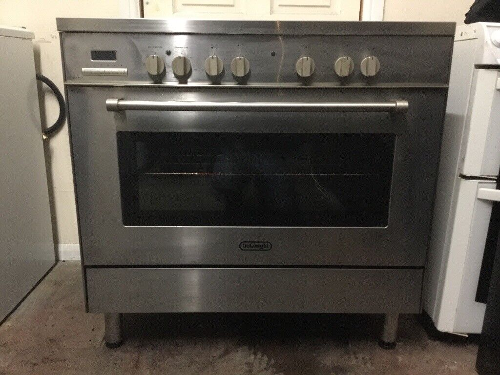 Delonghi electric range cooker 90cm stainless steel ceramic 3 months warranty free local delivery!!!