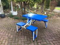 Plastic Punic bench and table,