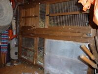 Five foot two tier rabbit hutch