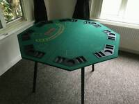 Poker table top with table