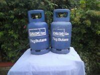 2 x 7 kg calor gas bottles for bbqs / caravans and motorhomes