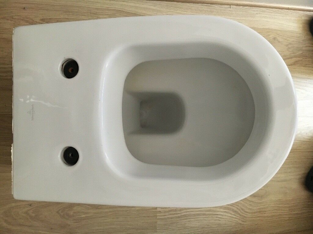 Villeroy boch subway wall hung toilet w soft close seat and
