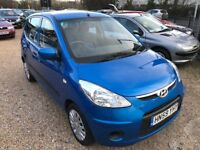 2009 HYUNDAI I10 1.1 ES 5DR HATCHBACK BLUE LOW MILEAGE