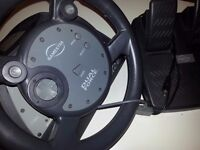 gamester dual force steering wheel pedals
