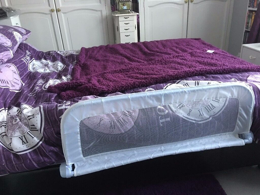 White bed guard with fittings