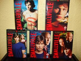 Smallville. The complete first, second, third, fourth and fifth series. Mint condition.