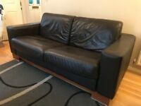 SOFA BED ( 2 SEATER SOFABED AND BUILT IN MATTRESS 160X200 ) IT'S A DFS REAL LEATHER SOFA