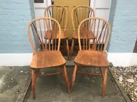 4 x Antique Rustic Farmhouse Shabby Chic Dining Chairs