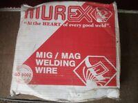 Murex 15kg MIG wire. 2 rolls, 1 x 1.0mm & 1 x 1.6mm.