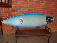 "Surfboard - Fluid Juice tri fin 6'6"" by Adrian Phillips. £100ono."