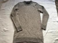 Zara knit ladies long jumper round neck size 14/16 used one time £5