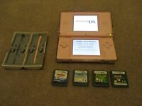 Nintentdo DS pink with Nintendogs and 5 other games