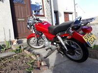Yamaha ybr custom 125 64 plate.