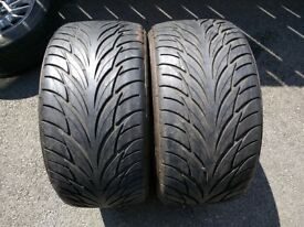 "Two 255/40/17"" Federal 6.25mm Part Worn Tyres For Alloys Alloy Wheels"
