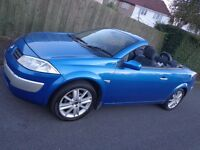 2005 top spec 6 speed renault megane 1.9 diesel convertible moted and taxed DRIVEAWAY OR DELIVERY