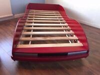 Single Bed. Car. Wood.