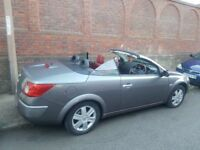 Renault Megane cabrio , red leather low mileage 93k