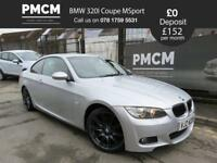 BMW 3 SERIES 2009 320I M SPORT HIGHLINE COUPE - RED LEATHER - S.H - a4 a5 gti (silver) 2009