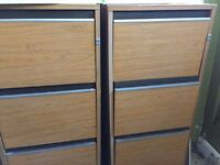 Wooden Filing Cabinet in good condition 2 for £25