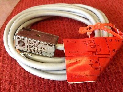 Festo - Pneumatic Cylinder Proximity Switch - Type Smeo-1-led-24 - New