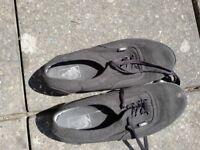 Pair of vans black canvas casual shoes