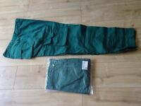 2 New pairs of green combat type work trousers size 36 inch waist ( NEW ) £3.00 each