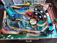 Universe of Imagination Wooden Train Table Set