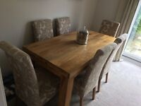 6 x Dining room chairs - perfect near new condition