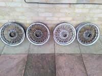 Wire wheels/ spoke rims