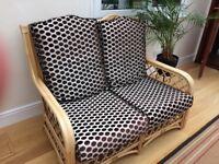 Cane furniture set 3pc