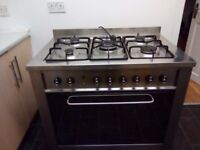 Cooker with 5 Burner gas hob & Electric Oven