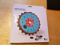 Magnetic bottle cap darts game!