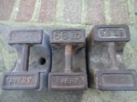 "VINTAGE ""AVERY "" WEIGHTS * 56lb * EACH x 3"