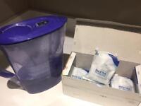 Filter jug with four extra filter