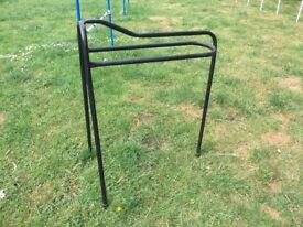 Stubbs free standing tall saddle rack